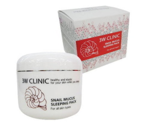 3W CLINIC Маска д/лица ночная УЛИТОЧНЫЙ МУЦИН Snail Mucus Sleeping Pack, 100 мл