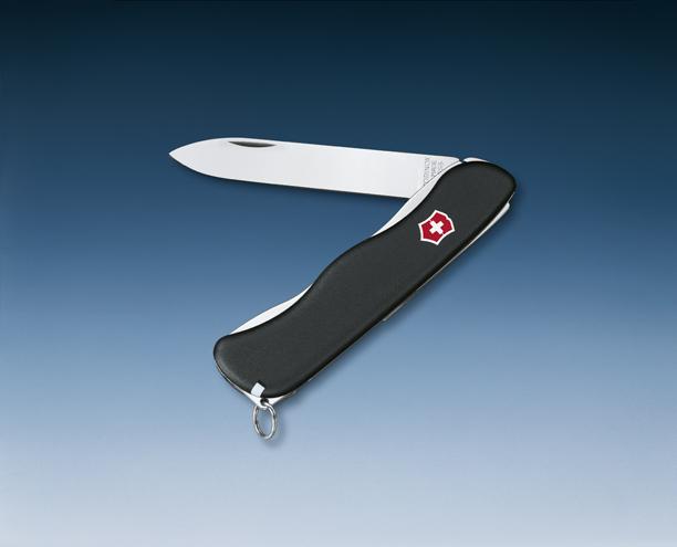 Нож Victorinox Sentinel, 111 мм, 4 функции, с фиксатором лезвия, черный*