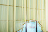 Короткий тюль-арка со стеклярусами. Клайм (жёлтый)