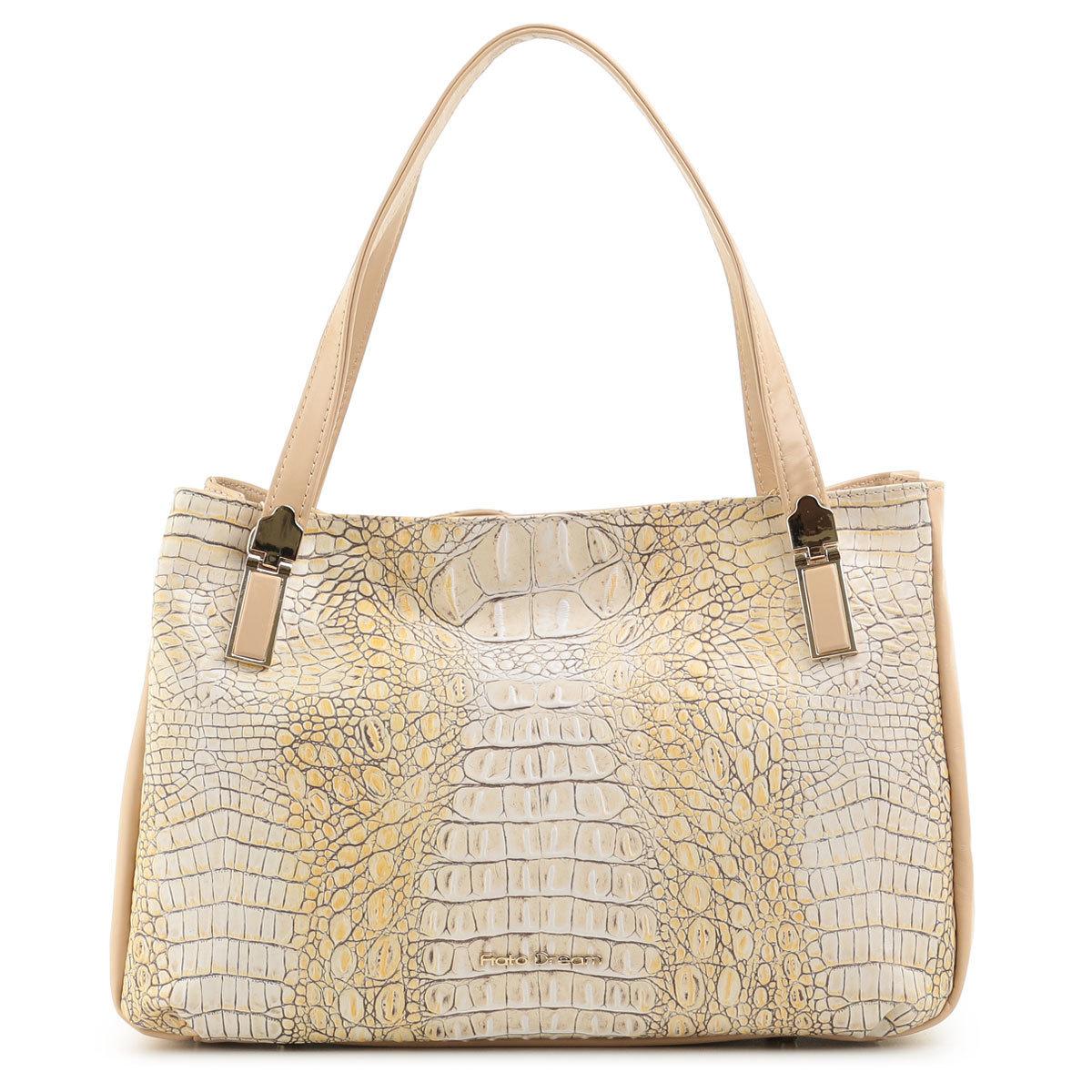 3814 FD кожа /крокодил желтый (сумка женская)