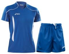 Мужская волейбольная форма Asics Volo Zone (T604Z1 4301-T605Z1 0043) синяя