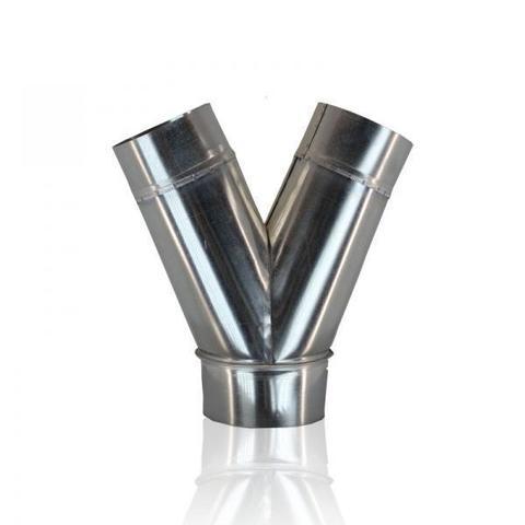 Тройник Y-образный (штаны) D 100 оцинкованная сталь