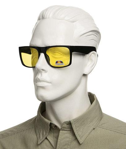 Очки с желтыми поляризованными линзами. Артикул А01. Вид без супернакомарника