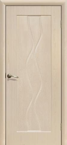 Дверь Сибирь Профиль Водопад, цвет беленый дуб, глухая