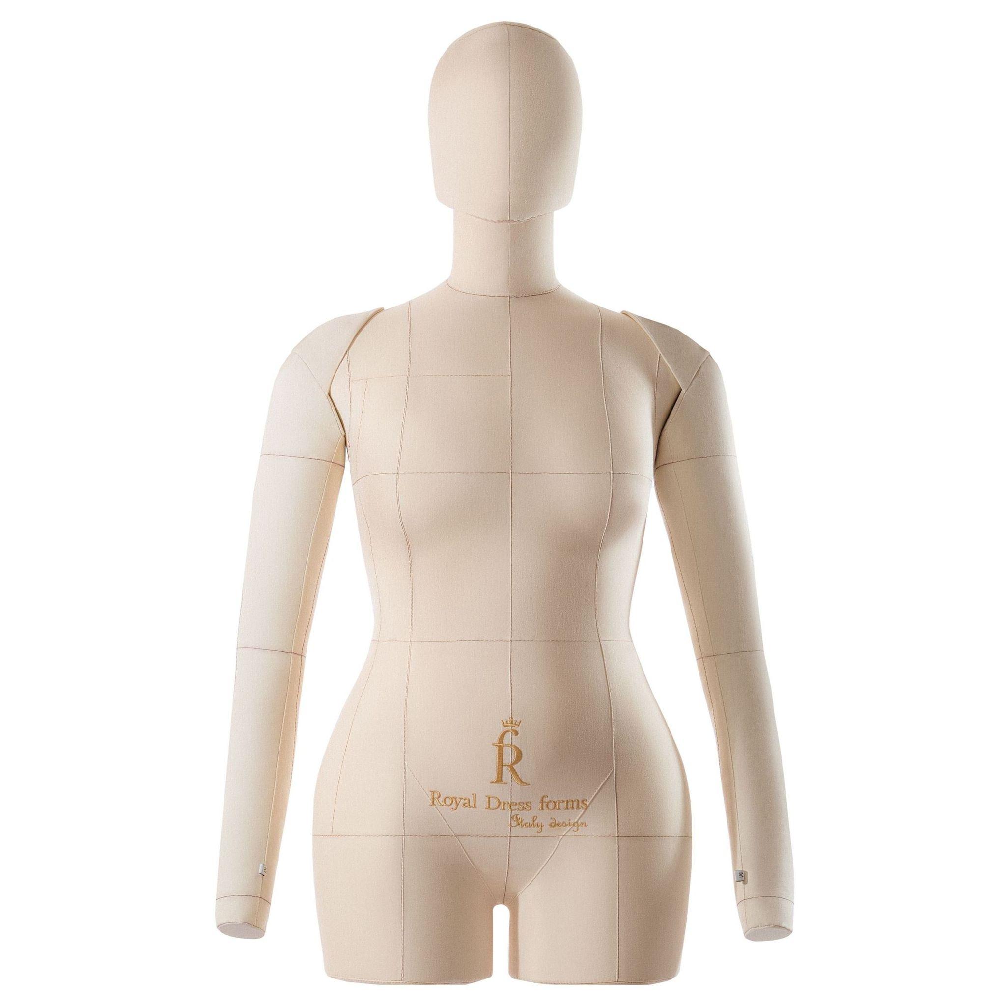 Комплект Lux: мягкий манекен Monica бежевый 46, Ручки, Голова, Фиксатор, Сумка