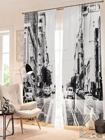 Комплект фотоштор Черно-белый Сан-Франциско
