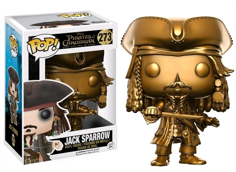 Фигурка Funko Pop! Disney: Pirates of the Caribbean - Jack Sparrow (Gold) (Excl. to Hot Topic)