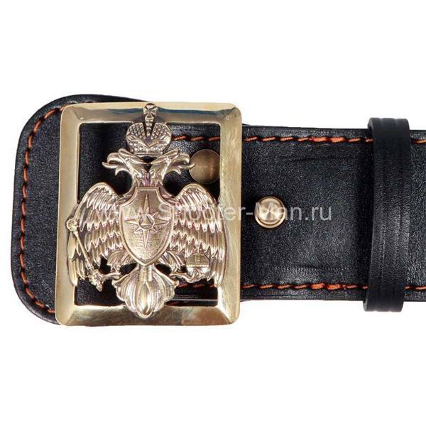 Ремень кожаный с гербом МЧС России