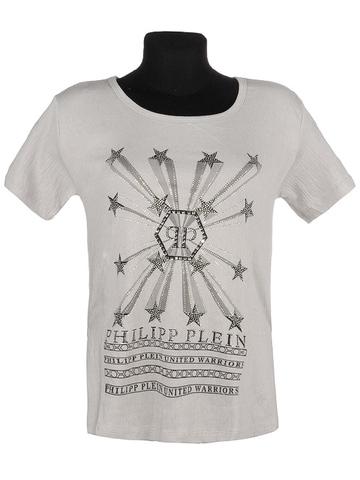582-12 футболка женская, серая