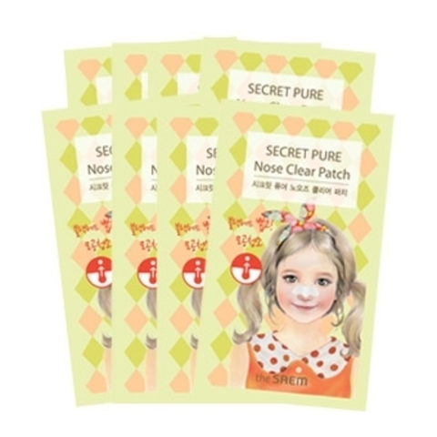 THE SAEM Secret Pure Набор пластырей против акне Secret Pure Nose Clear Patch Set(8pcs) 8шт