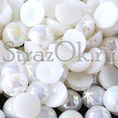 Полубусины, полужемчуг белый АБ White AB купите оптом на StrazOK.ru