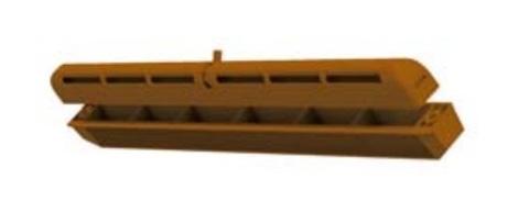 Оконный приточный клапан Vents ПО 400 коричневый