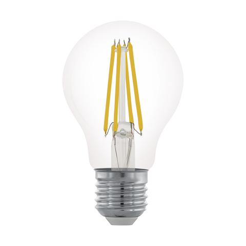 Лампа LED филаментная диммир. прозрачная Eglo CLEAR LM-LED-E27 6W 806Lm 2700K A60 11701