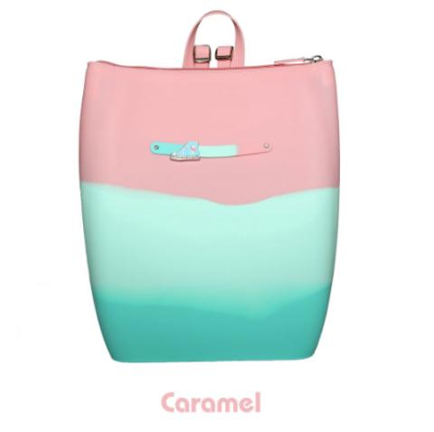 Маленький силиконовый рюкзак на молнии цвет Donut Gummy Bags