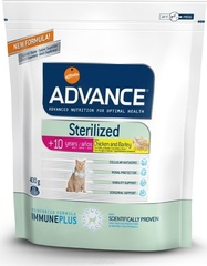 Корм для стерилизованных кошек старше 10 лет, Advance Sterilized 10 Years Senior, с курицей