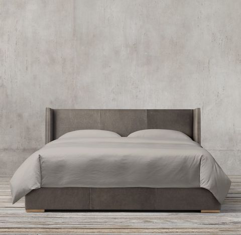 Lawson Shelter Non-Tufted Leather Bed