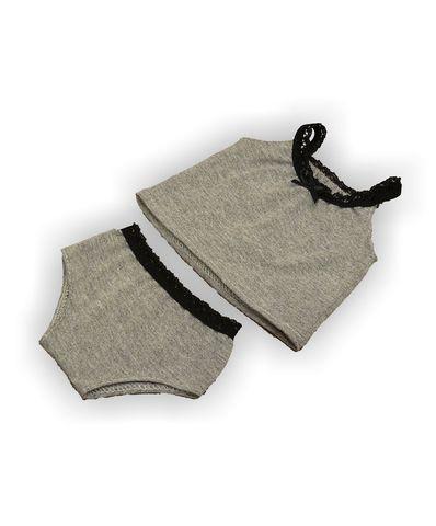 Комплект белья - Серый. Одежда для кукол, пупсов и мягких игрушек.