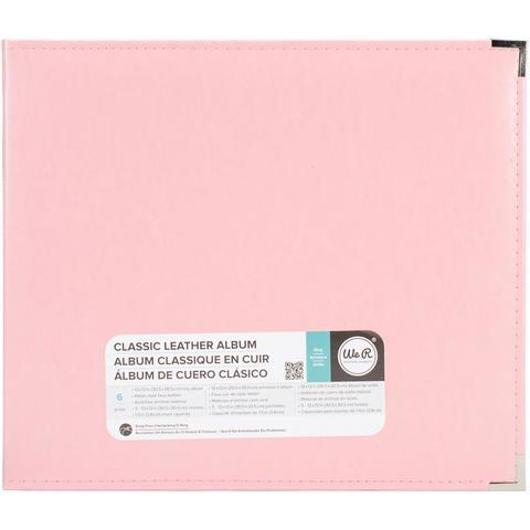 Папка на кольцах для Project Life Classic Leather D-Ring Album 30х30 от WeR - экокожа. Pretty Pink