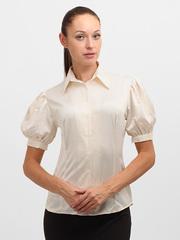 4143 блузка женская, молочная