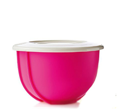 Двойное замесочное блюдо 1,5л в розовом цвете