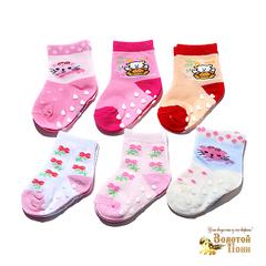 Носочки малышам с тормозами (0-18) 180516-Р3583-1