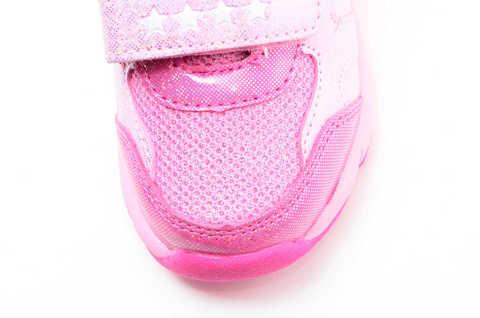 Светящиеся кроссовки для девочек Пони (My Little Pony) на липучках, цвет розовый, мигает картинка сбоку. Изображение 11 из 12.