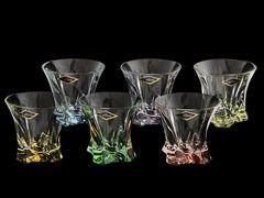 Набор из 6 цветных стаканов для виски Gradient