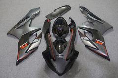 Комплект пластика для мотоцикла Suzuki GSX-R1000 05-06 Черно-Серый с красными линиями
