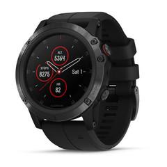 Мужские мультиспортивные часы Garmin Fenix 5X Plus Sapphire - черные с черным ремешком 010-01989-01