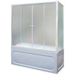 Шторка для ванны 1Marka 4604613000578 150х140 МW каркас белый