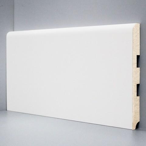 Белый ламинированный плинтус DEARTIO U102-150