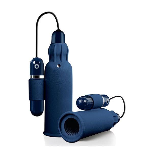 Мастурбаторы: Синий мастурбатор с вибрацией TREMBLE STROKER