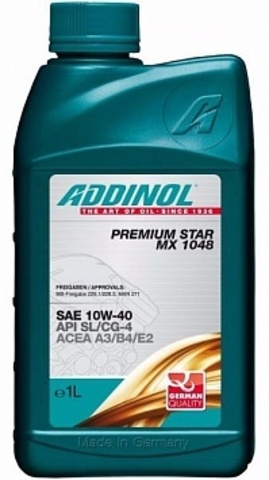Моторное масло ADDINOL PREMIUM STAR MX 1048 10W-40 1 л