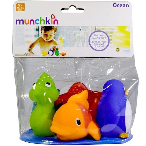 Munchkin игрушки для ванны Морские животные 4 шт.