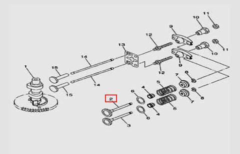 Клапан впускной для лодочного мотора F5 Sea-PRO(5-2)