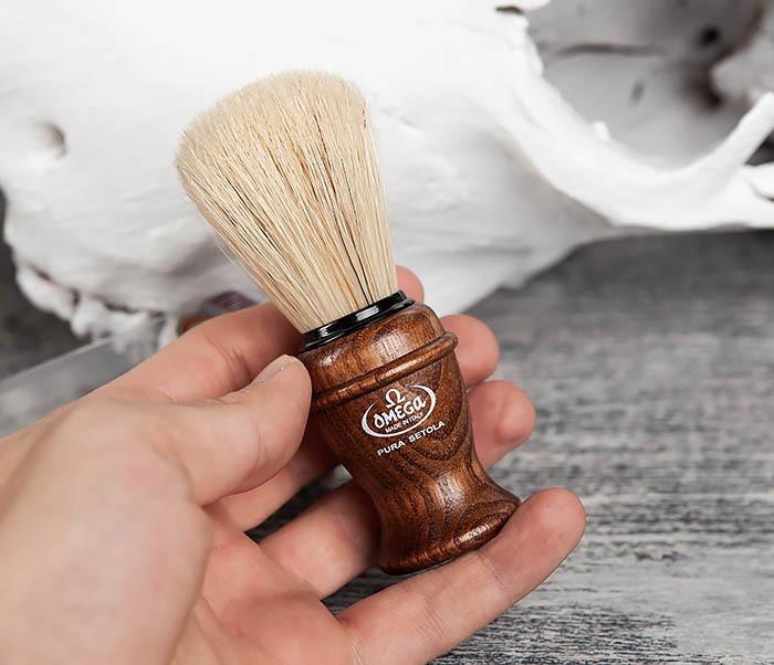 RAZ11137 Помазок из щетины кабана с деревянной рукояткой фото 03