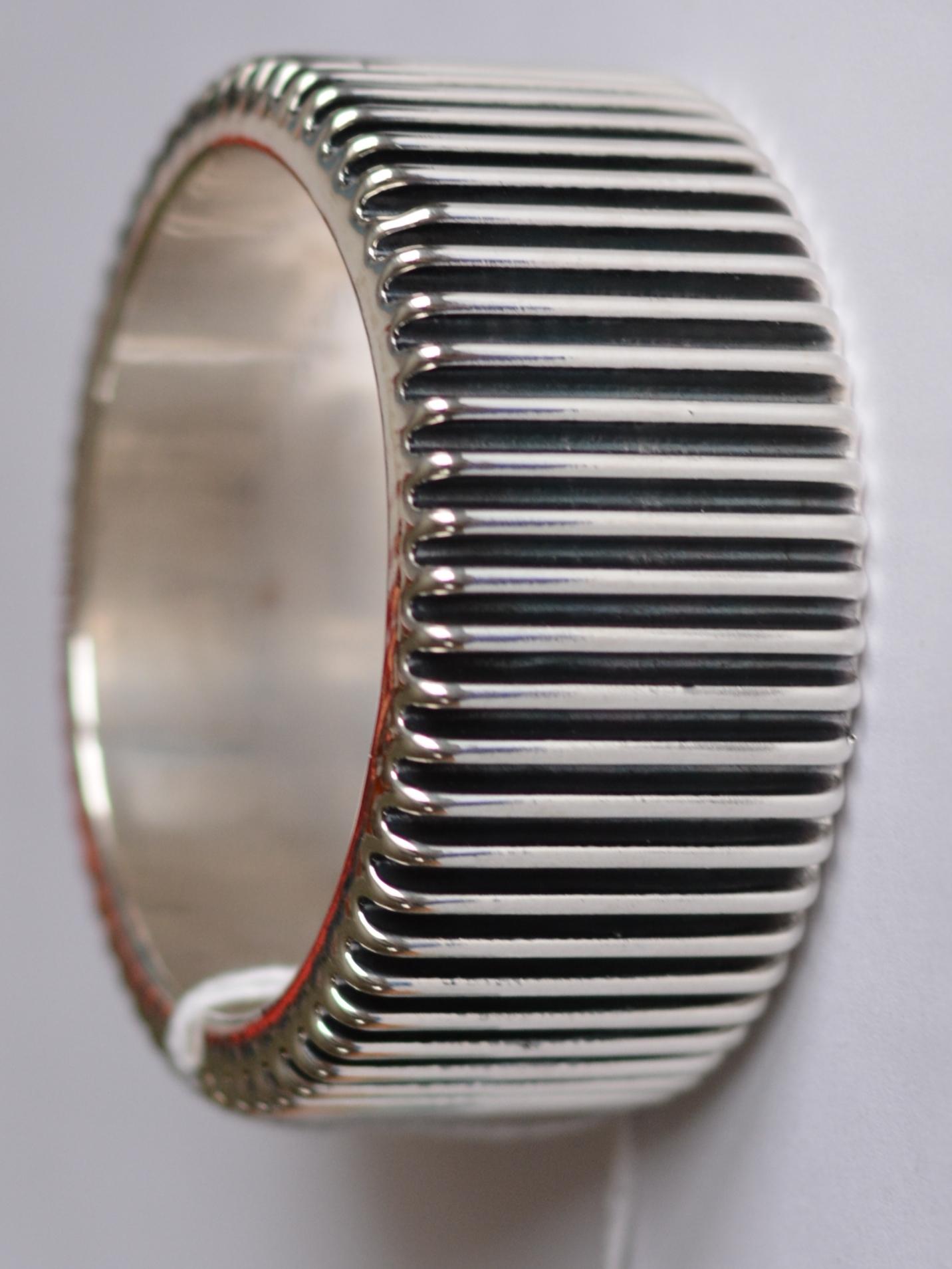 Зубчики (браслет из серебра)