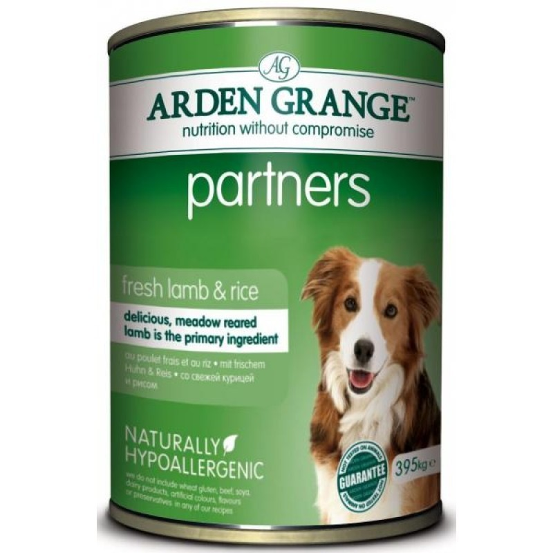 Влажные корма Консервированный корм для собак, Arden Grange Partners Lamb & Rice, с ягненком, рисом и овощами AG820011.jpg