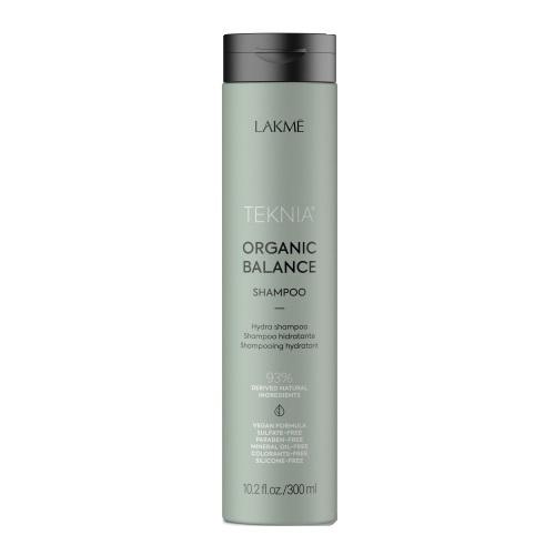 Бессульфатный увлажняющий шампунь для всех типов волос Lakme Teknia Organic Balance Shampoo 300мл