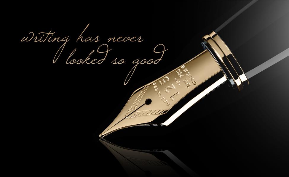 Cross Peerless 125 - Gold, перьевая ручка, F, BL