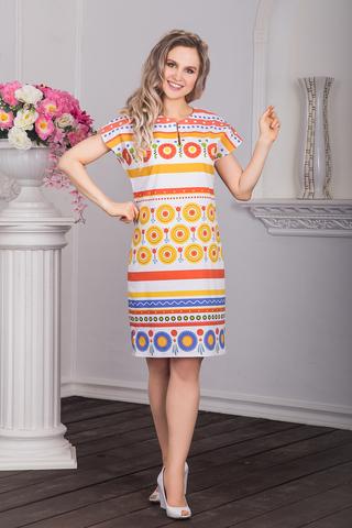 Платье хлопковое Дымковская игрушка