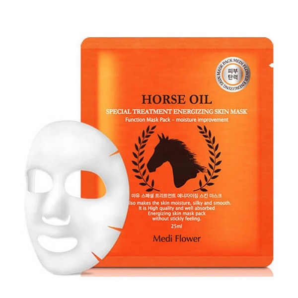 Маска интенсивная с лошадиным маслом Medi Flower Special Treatment Energizing Mask Pack Horse Oil 5x25мл
