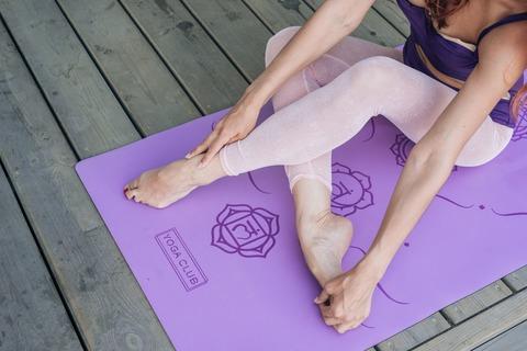 Каучуковый йога коврик Chakras Purple c разметкой 185*68*4,5см
