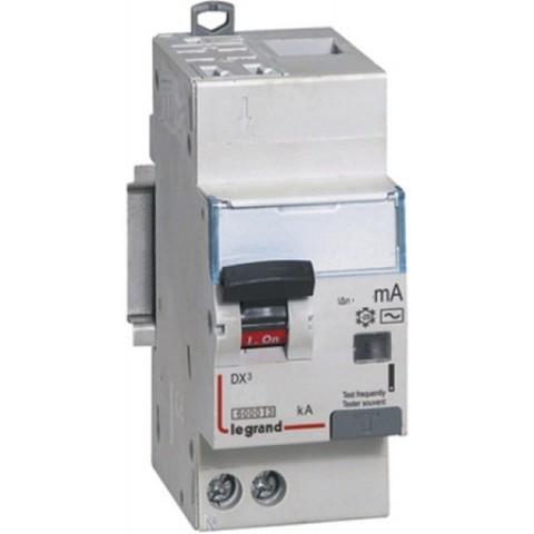 Выключатель дифференционного тока УЗО ВДТ DX-ID - 2П - 230 В~ - 25 А - тип AC - 30 мА - 2 модуля. Legrand (Легранд). 411504