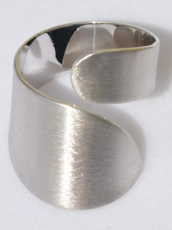 Локон С (кольцо из серебра)
