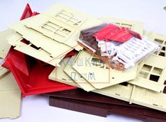 Домик зайчиков-молодоженов Happy family 012-10 (Счастливые друзья PT-00308) с обоями
