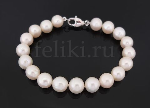 белый браслет из жемчуга_фото