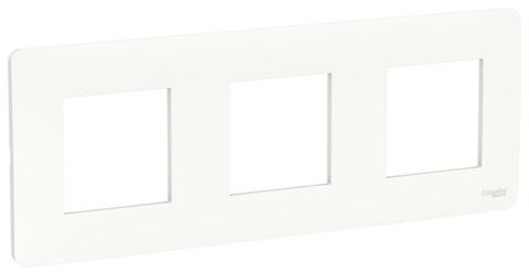 Рамка на 3 поста. Цвет Белый. Schneider Electric Unica Studio. NU200618