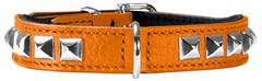 Ошейник для собак Hunter Rocky petit 30 (23-27 см), кожа оранжевый