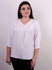 Леона. Оригинальная блуза плюс сайз. Белый.